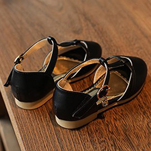 Oasap Girl's T-Strap Round Toe Buckle Mary Jane Shoes Grey