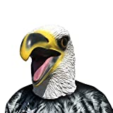 thematys Seeadler Eagle Adler Maske - Perfekt für Fasching, Karneval & Halloween - Kostüm für Erwachsene - Latex, Unisex Einheitsgröße