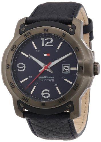 Tommy Hilfiger Watches 1790895 - Orologio da polso uomo, pelle, colore: blu