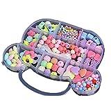Bead Kids-Set für Schmuckherstellung – Basteln Perlen Kits für kleine Mädchen DIY Halsketten Armband Kinder Spiele buntes Acryl Handarbeit Perlen Set Zubehör Geschenk für Kinder (Bigbär)