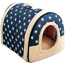Dough.Q 2 en 1 Mascota Casa, Lavable a máquina Antideslizante Plegable Suave Caliente