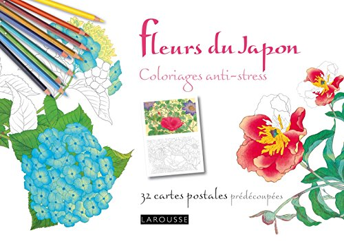 Fleurs du Japon coloriages anti-stress 32 cartes postales par Collectif