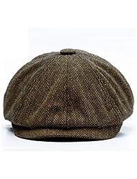 Anshili Uomo Tappo Ottagonale Cappello per l inverno Cappelli 60e5c9ff4d3c