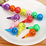 Set of Cute Colorful and Fun Smiley Face...