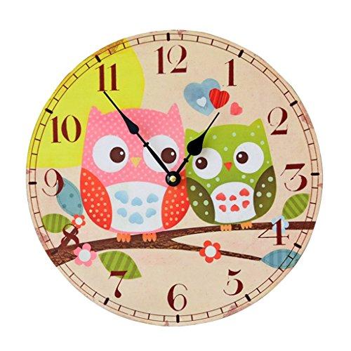 Homyl Kinderuhr Wanduhr Ø35cm zum Uhr lesen lernen für Jungen & Mädchen Kinderzimmer Uhren - 2