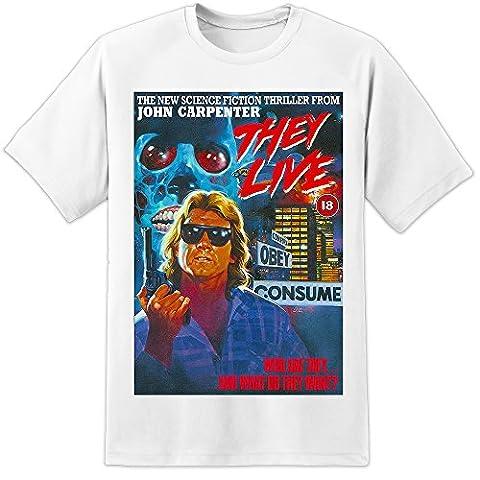 John Carpenter - THEY LIVE - Retro Movie poster t shirt (S-3XL) Huge High Quality - XL