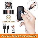 Tera Lector Escáner de Código de Barras Mini Portátil Inalámbrico 2.4GHz 1D 2D QR Digital Compacto Compatible con Bluetooth PC Smartphone Batería Recargable Incorporada 650mAh Manual de Español