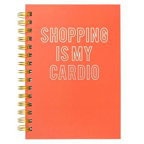 Hard Bound Journal: Shopping is my Cardio - Hardcover-Notizbuch mit stabiler Ringbindung: Shoppen ist mein Ausdauersport: Unser langlebiges Notizbuch für den täglichen Schreibbedarf