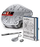 Star Wars Episode VII 4-tlg. Schreibset (Notizbuch, Stift, Schlüsselanhänger & Anstecker)