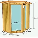 Home Deluxe – Infrarotkabine – Redsun XL – Keramikstrahler– Holz: Hemlocktanne - Maße: 155 x 120 x 190 cm – inkl. vielen Extras und komplettem Zubehör - 6