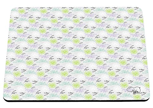 hippowarehouse-pretty-floral-repeat-pattern-printed-mouse-mat-pad-accessory-black-rubber-base-240mm-