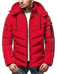 OZONEE Herren Winterjacke Parka Jacke Wärmejacke Wintermantel Coat Kapuze  Wärmemantel Modern Täglichen ... fc236deb32