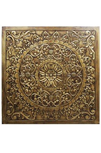 Orientalische Holz Ornament Wanddeko Badu 120cm gross XXL | Orientalisches Wandbild Wanpannel in...