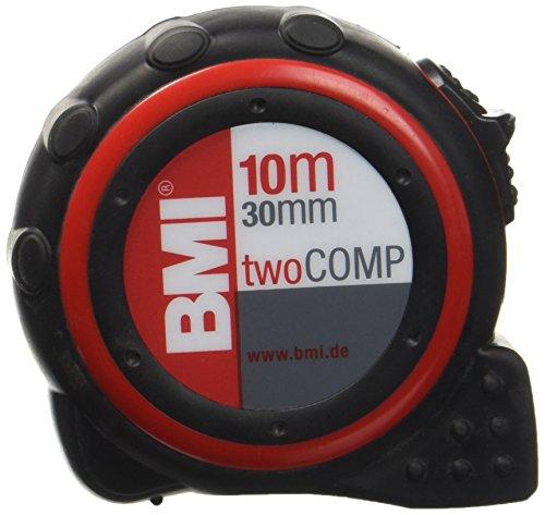 BMI 472041021 Taschenbandmaß Two Comp, Länge 10 m, weisslackiertes Band, mit Clip (Comp-tool)