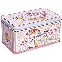 Natives 610100Happy thérapie-Macarons Caja de repostería Metal Multicolor 28x 24x 11cm