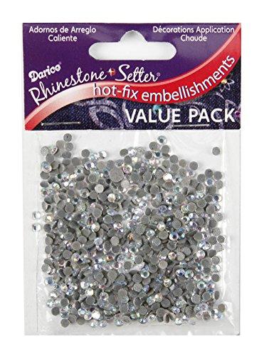 Darice Hot-Fix Glass Stone- Apliques y adornos de tela, 4mm 750/Pkg, p