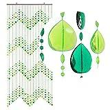 HAB & GUT (DV0253) tenda per porte Design: GOCCE, Colore: VERDE, Materiale: plastica, Dimensioni: 90 x 200 cm
