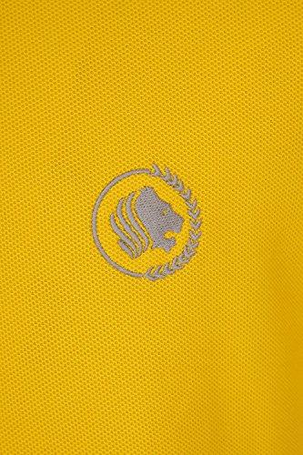 Barror London Men's City Polo Shirt - Medium to Kingsize Yellow