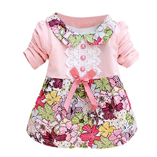 Silvercell Baby Kinder Blumenprinzessin Dress Bowknot One Piece Kleid Rock (Kleid Grils)