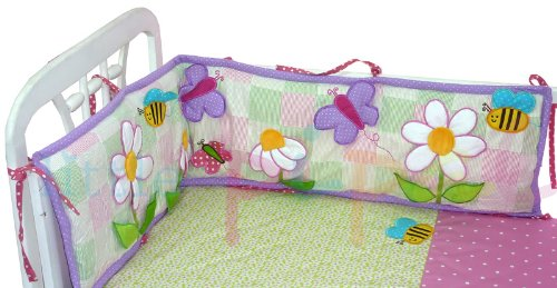 The Pipal Ibby Daisies Crib Bumper