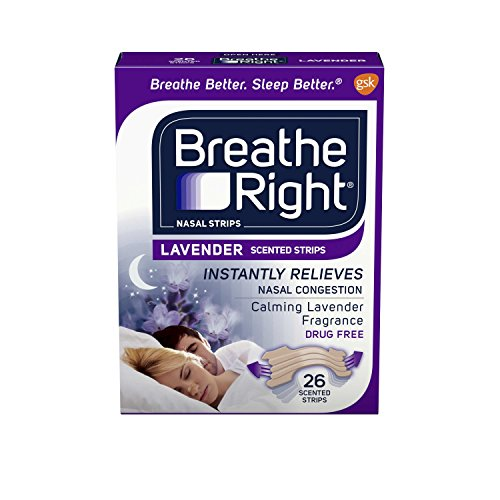 Breathe Right Strips Nasal Strips, Lavender, 26 Count -