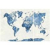 Moderno Astratto Pittura Appesa - Immagine Mappa a 3 Pezzi Senza Telaio Quadro su Tela Decorativo Opera D'arte Murale Combinato per Camera da Letto Ufficio Soggiorno Casa