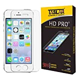 Taslar(TM) Premium Arc Edge Tempered Glass Screen Scratch Guard Protector for Apple iPhone SE / 5 / 5S