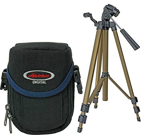 Foto Kamera Tasche ADVENTURE CHIP Set mit Stativ für Sony DSC--WX350 WX220 WX80 W830 W730