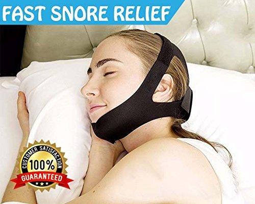 Anti-Snore-Kinnriemen, die beste Lösung zum Schnarchen, sofortiges Stoppen des Schnarchens von AirPromise, einstellbare Größe für Männer und Frauen