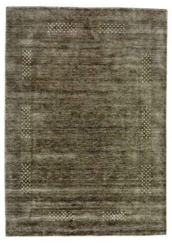 Morgenland Feiner Loribaft Teppich NOVA 200 x 140 cm Grau Einfarbig Modern Gabbeh Optik Orient...
