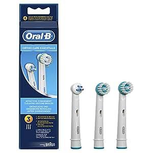 Oral-B Ortho Care Essentials Aufsteckbürsten für Elektrische Zahnbürsten, 3 Stück