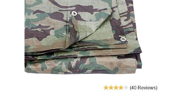 2.4m x 3.0m camouflage tarpaulin waterproof sheet cover ground ground army  camo b1de818c6a3c4