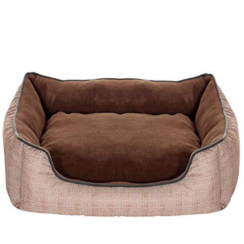 PET VIOLET Hundebett groß mit XXL Wendekissen I Hundekorb Indoor und Outdoor I Hunde-Sofa abwaschbar und wasserdicht (Großes Pet-sofa-bett,)