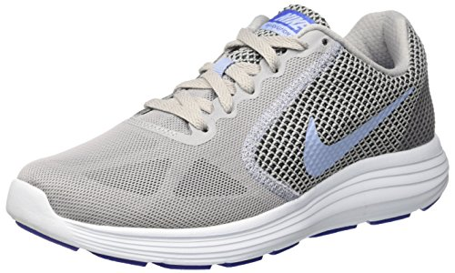 Nike Women's WMNS Revolution 3 Trail Running Shoes, Grey (Wolf Grey/Aluminum/Black/Blue Tint 014), 5 UK