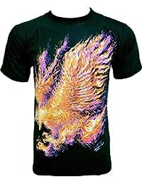 Rock Chang T-Shirt * Fire Eagle * Noir HD-15