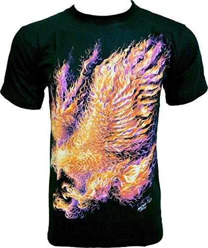 Rock Chang -  T-shirt - Collo a U  - Uomo nero XL - Indiano Dagger