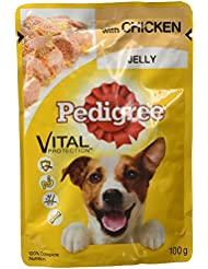 Pedigree Gravy Adult Dog Food, Chicken in Jelly, 100 g Pouch (Pack of 4)