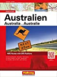 Australien Road Atlas: 4WD Routes with GPS Positions, Sehenswürdigkeiten, Stadtpläne, Nationalparks (Hallwag Atlanten)