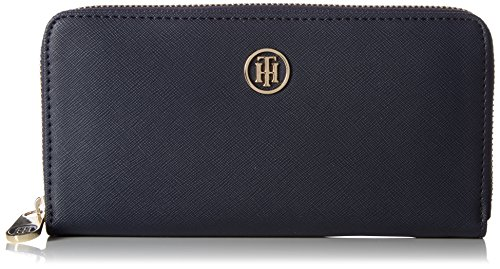 Tommy Hilfiger Damen Honey Large Za Wallet Geldbörse, Blau (Tommy Navy), 23 x 15 x 22 (Geldbörsen Tommy)