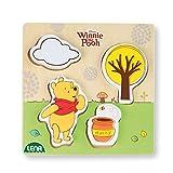 Lena 32121 Disney Winnie the Pooh l'orsetto Walt Disney gioco di legna, multicolore, ca. 14 x 2,5 x 18 cm