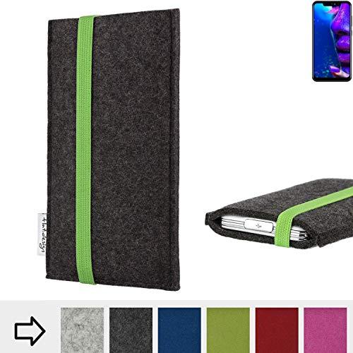 flat.design Handy Hülle Coimbra für Allview Soul X5 Pro handgefertigte Handytasche Filz Tasche fair grün dunkelgrau
