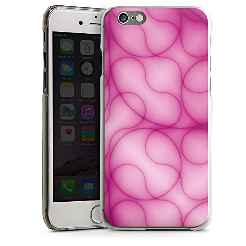 Apple iPhone 6 Housse Étui Silicone Coque Protection Rose vif Motif Motif CasDur transparent