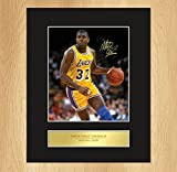 Magic Johnson Montage photo signature encadrée LA Lakers