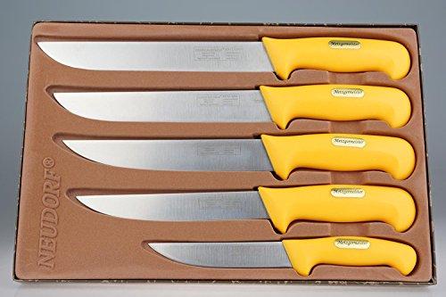 Set de 5 couteaux professionnel de qualité en acier inoxydable / ergonomique