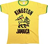 Buzz Shirts Kingston Jamaica Mens Ringer T-Shirt Camiseta para Hombre Retro Style