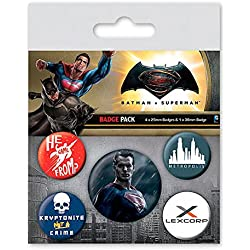 Pack 5 chapas Superman. Batman v Superman: El Amanecer de la Justicia