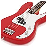 Guitare Basse LA par Gear4music Rouge