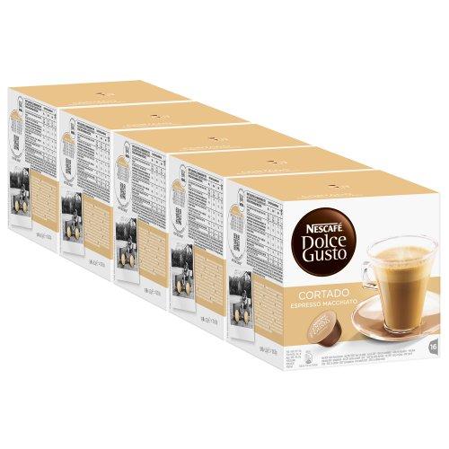 Nescafé Dolce Gusto Cortado Espresso Macchiato, Kaffee, Kaffeekapsel, 5er Pack, 5 x 16 Kapseln