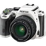 Pentax K-S2 Spiegelreflexkamera (20 Megapixel, 7,6 cm (3 Zoll) LCD-Display, Full-HD-Video, Wi-Fi, GPS, NFC, HDMI, USB 2.0) Kit inkl. 18-50mm WR-Objektiv weiß/Rennstreifen