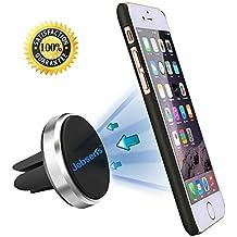 """Jebsens CA03 Soporte con ventosa de aire para Teléfono móvil,magnético, con ventilación, para salpicadero de coche, para Apple iPhone 6(4.7""""), 6Plus (5,5), Samsung Galaxy S6S5Note 4"""